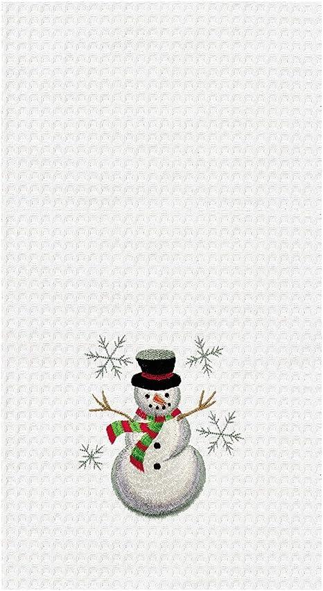 Winter Snowman Kitchen Towel Decorative Tea Towel
