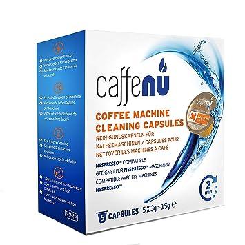 "caffenu limpieza máquina de café Nespresso Cápsulas, Pack de 5 ""La suciedad de"