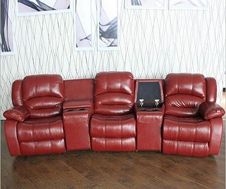 Amazon.com: My Aashis Sofá reclinable de lujo, de piel ...