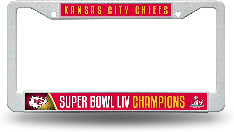 Kansas City Chiefs NFL Rico Industries  LIV Standard Chrome License Plate Frame Super Bowl Champion LIV