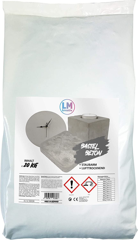 Bastel-Beton Beton zum Basteln Viva Decor Kreativ-Beton Beton f/ür Kreative Hobby-Beton 2,2 kg LM-Kreativ LM Bastel-Beton Premium Qualit/ät