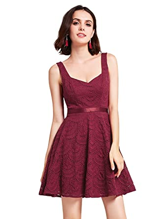 a1130fea96f2b Alisa Pan Sweetheart Neckline Burgundy Lace Dress for Party 05803 ...