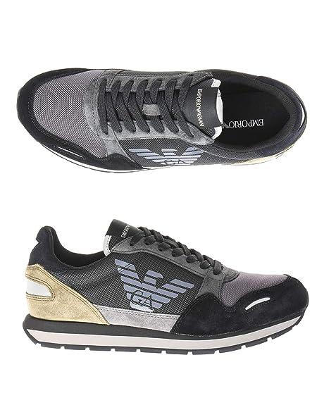 Emporio Armani X4X215 Sneakers Bassa Uomo Nero 40M  Amazon.it ... 0eeec2f83b3