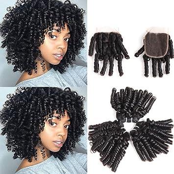 Amazon Com Brazilian Virgin Funmi Hair Curl Wave 4 Bundles