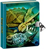 "Peaceable Kingdom Keep Out! Dragon Picture-Changing Cover 6.25"" Lock and Key, Lined Page Diary for Kids"