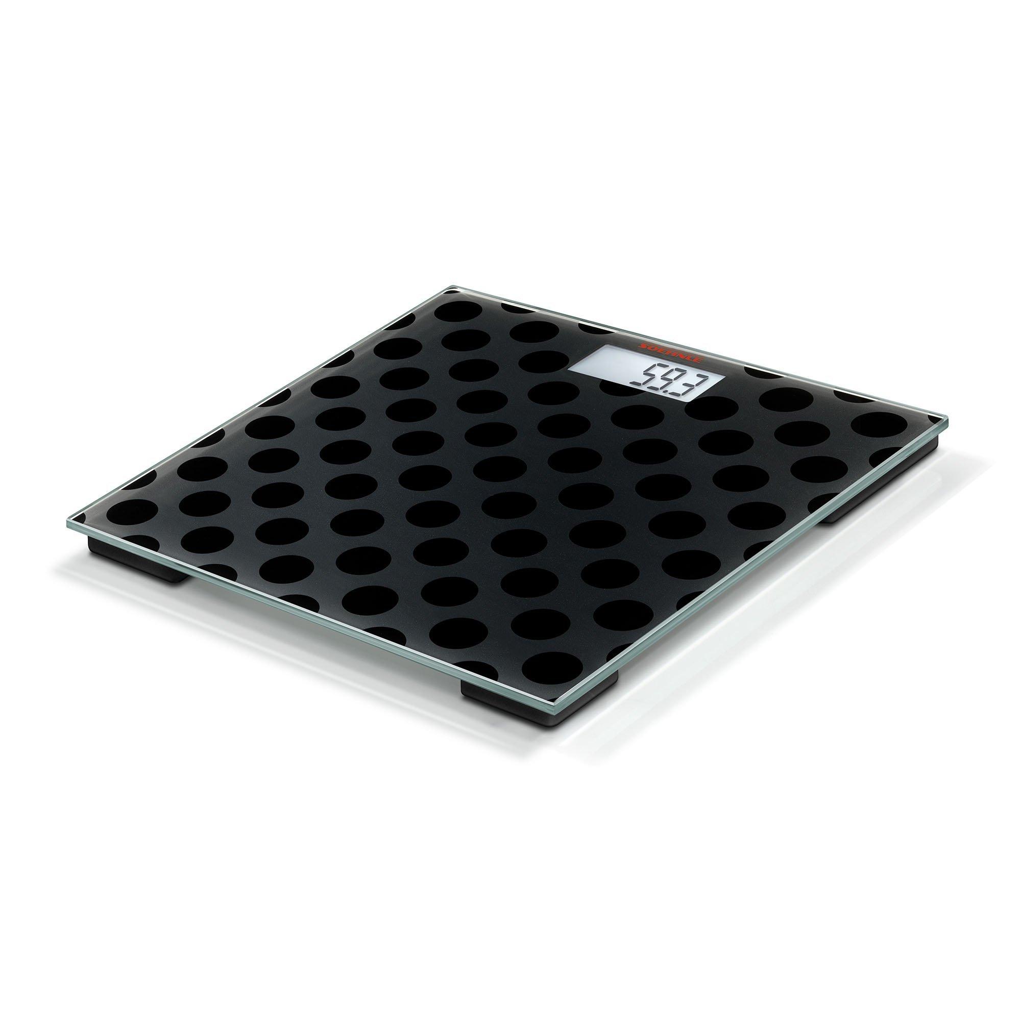 Soehnle Maya Digital black Edition Personal Glass Bathroom Scale, Circles by Soehnle (Image #1)