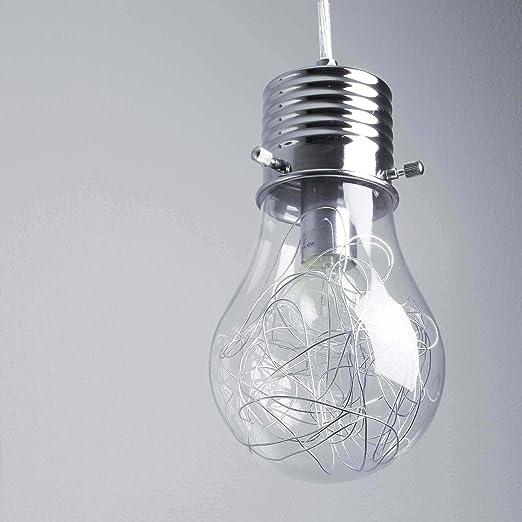 Moderna lámpara de techo colgante en forma de bombilla con ...
