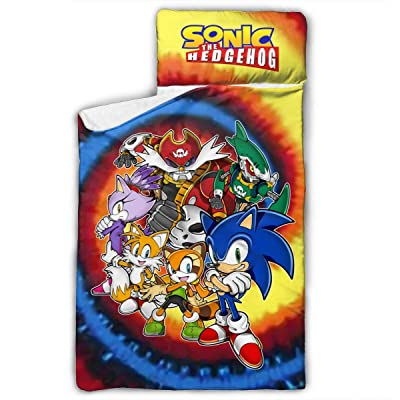"Putiancaijunkai Kids Toddler Nap Mat Sonic The Hedgehog Child Nap Mat 50"" X20\"", Soft Microfiber for Preschool, Daycare, Travel Sleeping Bag: Home & Kitchen [5Bkhe0307039]"