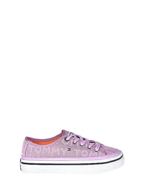 Designs Tommy Hilfiger Kinder Sneakers Zum Schnüren Pink