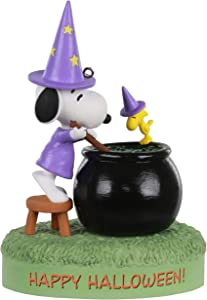 Hallmark Keepsake Halloween Ornament 2020, The Peanuts Gang Toil and Trouble Witch Snoopy, Musical With Light