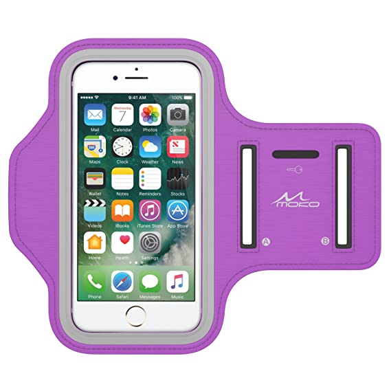 check out 3a6a4 634d8 MoKo Armband Fit iPhone Xs/Xr/Xs Max/X, Water Resistant Sports Running  Armband Workout Cover Fit iPhone Xs/Xr/Xs Max/X, iPhone 8 Plus/7 Plus/6S  Plus/6 ...
