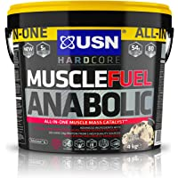 USN Muscle Fuel Anabolic Muscle Gain Shake Powder, Cookies and Cream, 4 kg