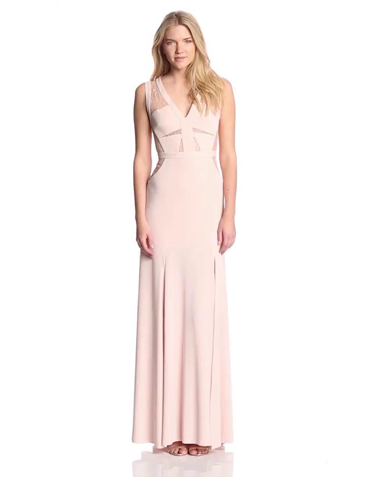 Amazon.com: BCBGMAXAZRIA Women\'s Cristy Sleeveless Evening Gown with ...