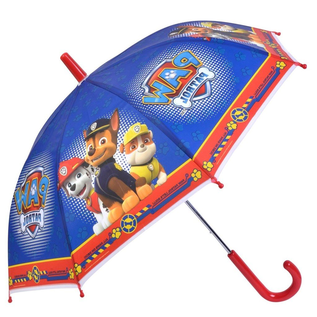 Chanos Paw Patrol Safety Runner Poe Embossed Folding Umbrella, 38 cm, Bright Blue Regenschirm, Blau (Bright Blue) 4661