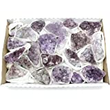 Light Amethyst Cluster 1-2 lbs Box Approx. 8-14 pieces RP Exclusive COA - AM22A