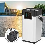 Generador electrico solar portátil potente, 200W 52500mAh Generador solar portátil Almacenamiento de energía Fuente de alimentación móvil 100-240V para exteriores Camping Viajes Uso(EU Plug)