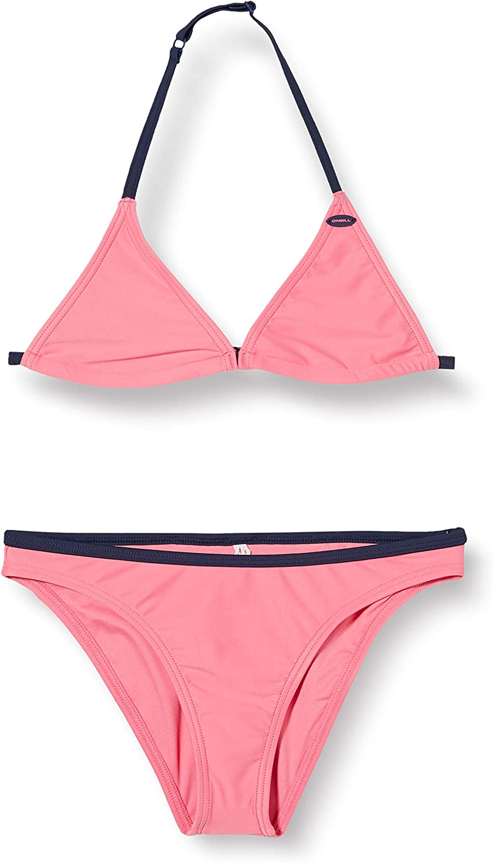 0A8386 EU 152 ONeill Girls Pg Essential Triangle Bikini Girls Pink Lemonade
