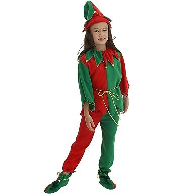 bae130853e3 EraSpooky Christmas Elf Kids Costume Whole Set