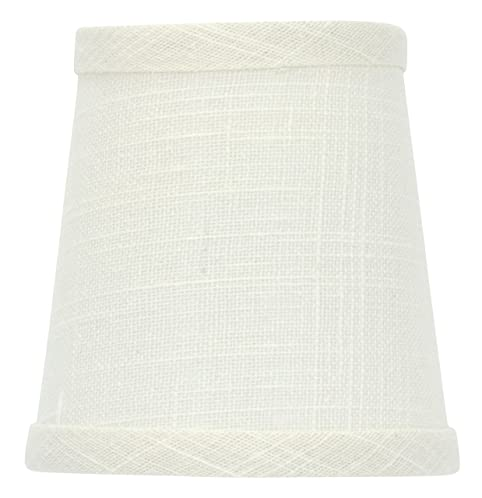 Upgradelights Off White Linen 4 Inch Chandelier Shade (3x4x4.25 ...