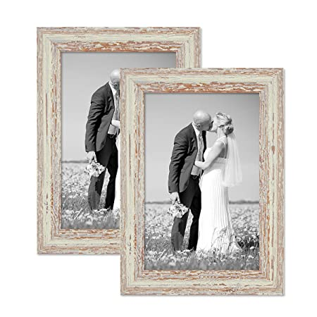 Set Of 2 Picture Frames With Dimensions Of 21x30 Cmdin A4 In White
