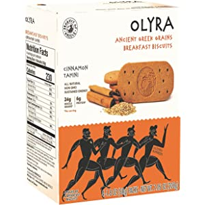 Olyra: Ancient Greek Grains Breakfast Bar - Cinnamon Tahini - 4 Count, 7.05 Ounce