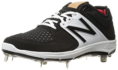 New Balance Men's L3000V3 Baseball Shoe, Black/White, ...