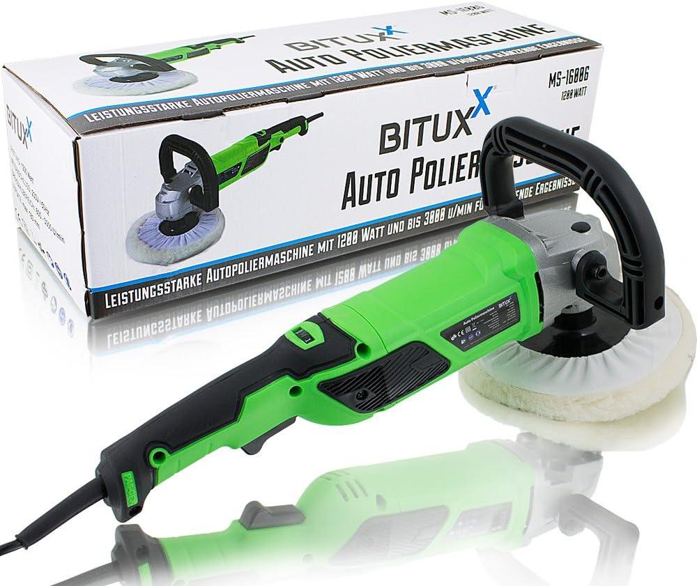 Bituxx Poliermaschine 1200 Watt Schleifmaschine Autopolierer Poliergerät Autopflege Kfz Pflege Autolackaufbereitung Auto