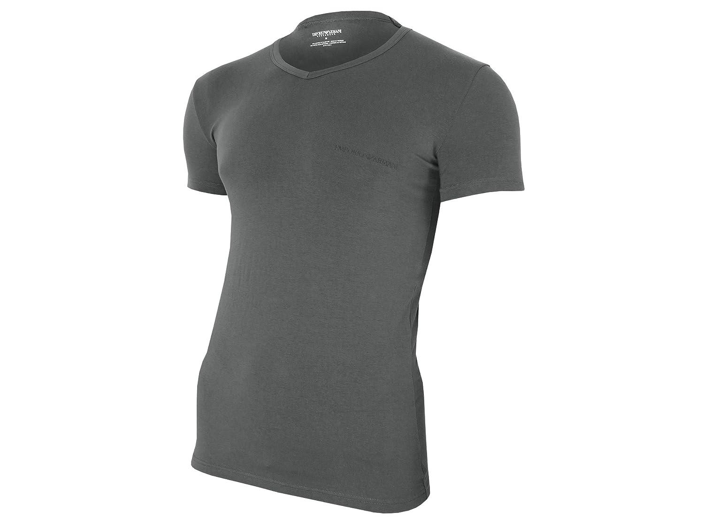 Emporio Armani Men's Stretch Cotton Classic Logo V-Neck T-Shirt Emporio Armani Men' s Underwear 111810-6A717