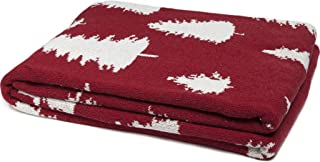 product image for in2green Fir Trees Reversible Eco Throw - Pomegranate