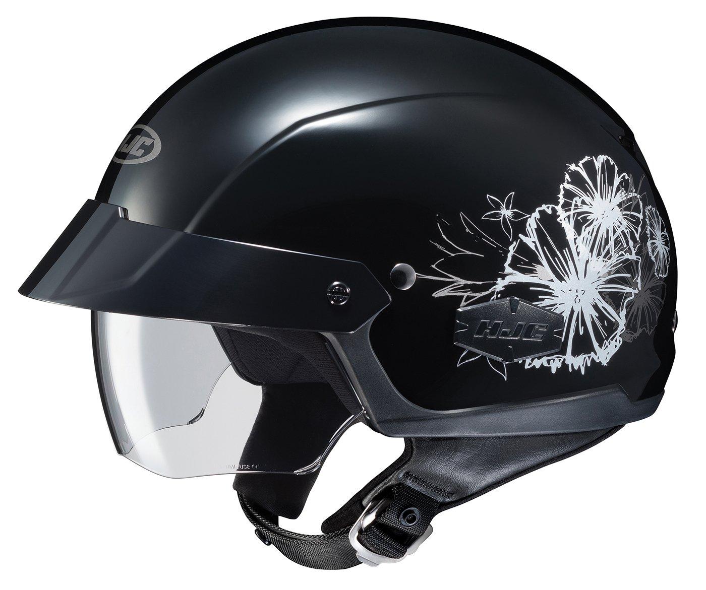 Black//White, Medium 490-953 HJC Helmets MC-5 Unisex-Adult Half-Size IS-Cruiser Blush Helmet