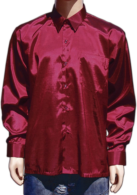 basteln4u Camisa de manga larga L Vino Rojo Camisa Señor ...