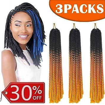 Amazoncom 3 Packslot Faux Locs Crochet Hair 20 Inch Locs