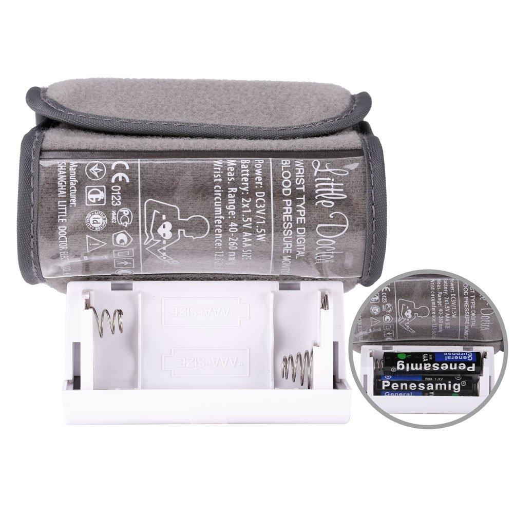 iClight scian Tensiómetros de Muñeca Monitor de Presión Arterial Digital de Muñeca con Detección del Ritmo Cardíaco Color- Blanco y Gris: Amazon.es: Salud y ...