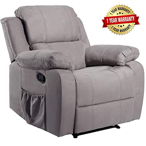 Incredible Merax Suede Heated Massage Recliner Sofa Chair Ergonomic Lounge With 8 Vibration Motors Grey Gmtry Best Dining Table And Chair Ideas Images Gmtryco