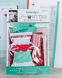 Kimberbell Designs Embellishment Kit: Love Notes Mystery Quilt (KDKB1210)