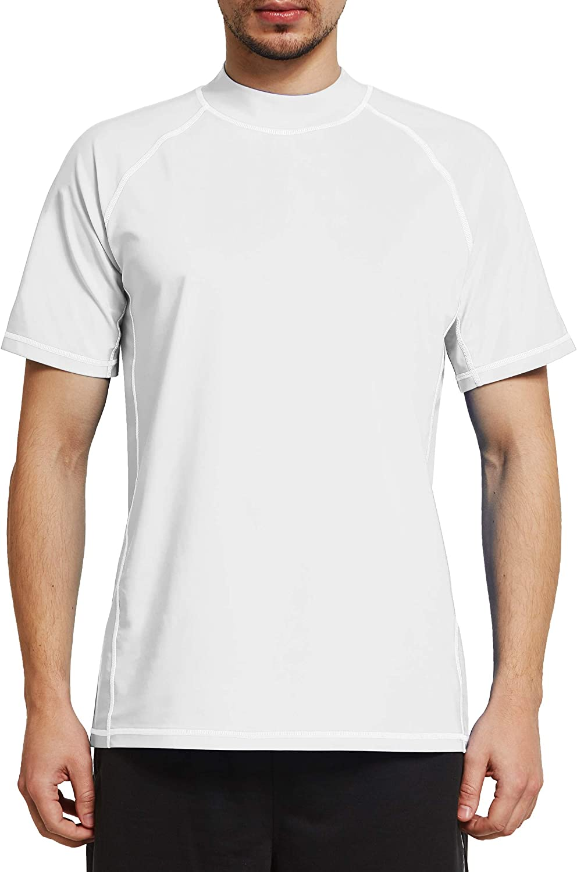 Secado Rapido Ogeenier Rash Guard Hombre Camiseta de Manga Corta con Protecci/ón Solar UV UPF 50