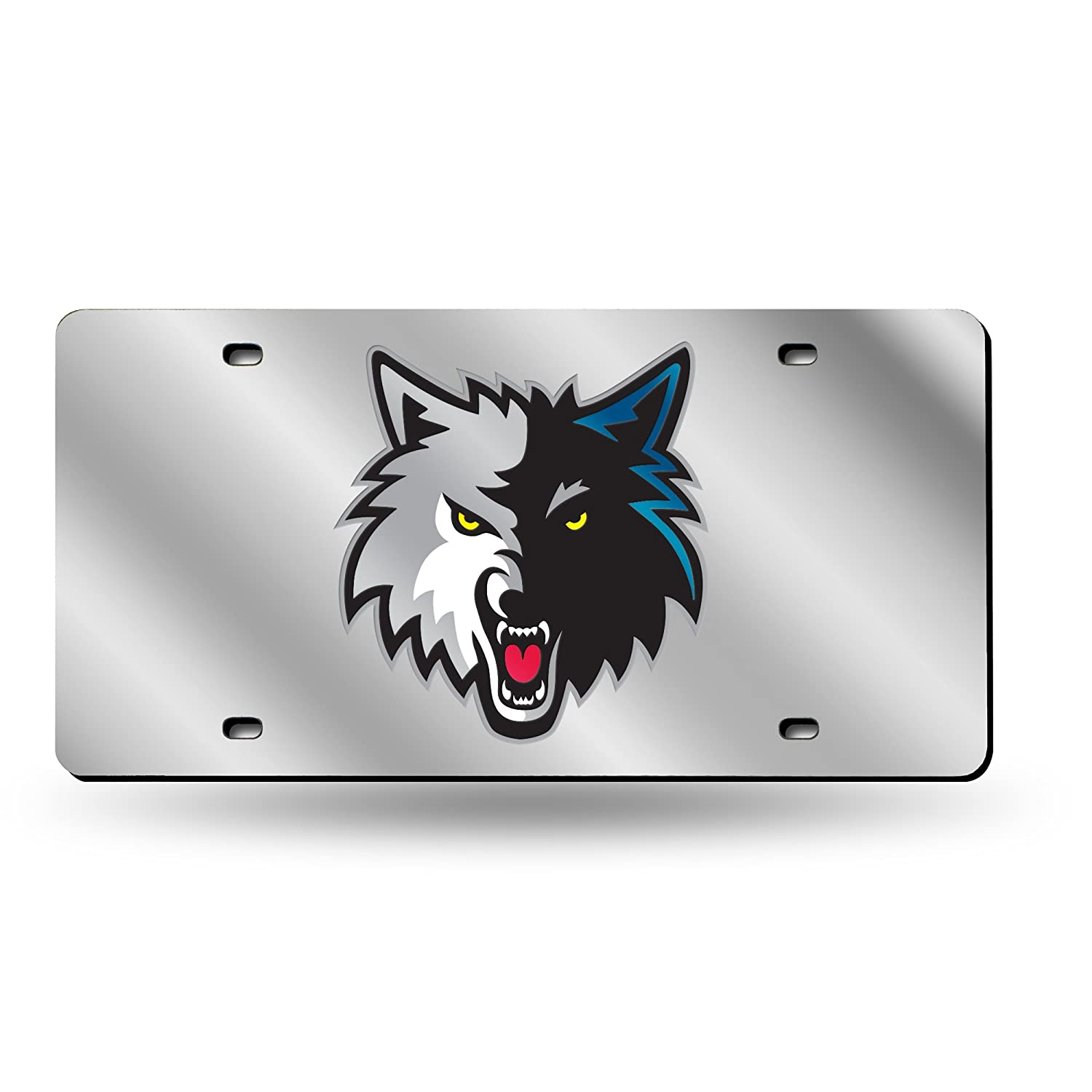 Silver One Size Rico Industries Inc NBA Laser Inlaid Metal License Plate Tag LZS68001