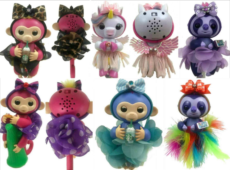 Monkey Glam 12 Piece Party Pack Tutu, Headband & Dress Up Accessories for Baby Monkeys, Unicorns, Sloths, Pandas, Dragons Great Xmas Gift