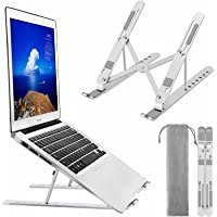 Laptop Stand, BEHEY Adjustable Metal Aluminum alloy Holder with Silicone protection, Foldable Computer Riser Compatible…
