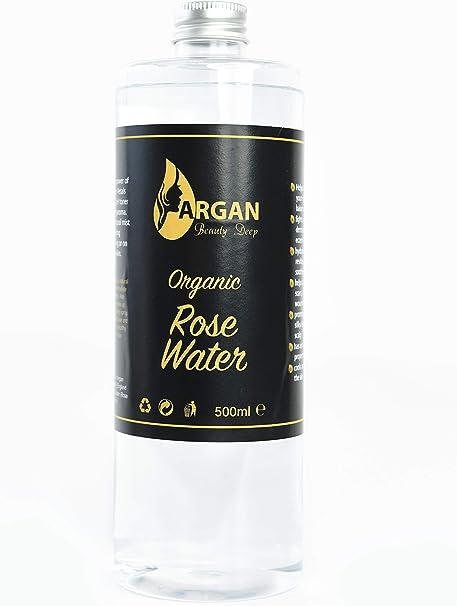 Tónico facial de agua de rosa pura, botella extra grande de 500 ml ...