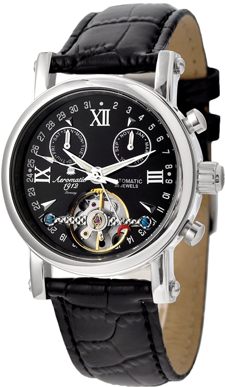 エアロマチック1912 腕時計 二戦 ドイツ 空軍 復刻 自動巻き カレンダー A1421[並行輸入品] B00LMW92W2