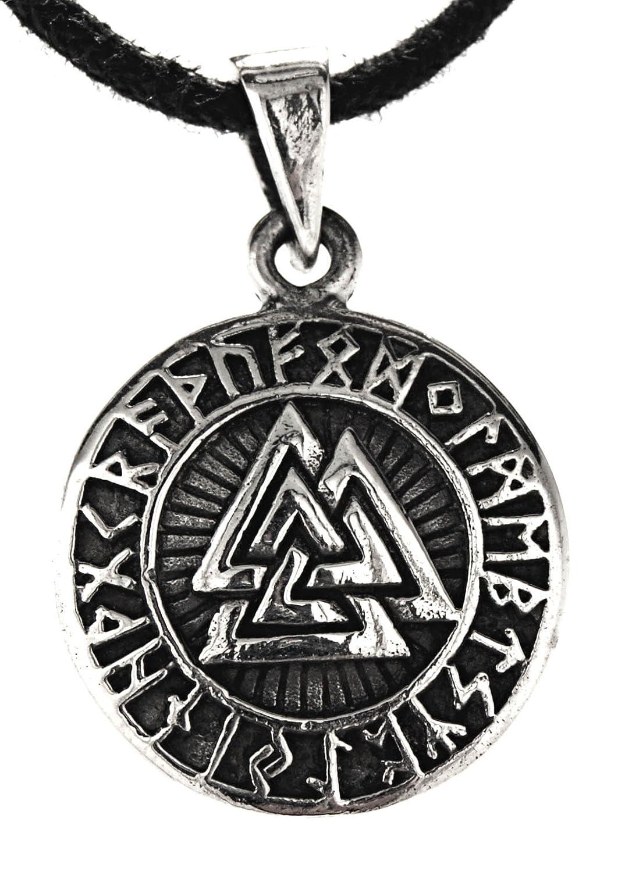 Wotansknoten Anhä nger aus 925 Sterling Silber mit Baumwollband Eastern Gems ABC-1485