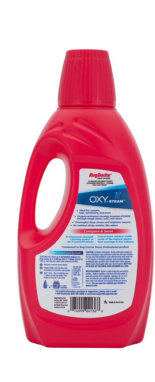 amazon com rug doctor oxy steam carpet cleaning solution removes