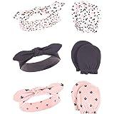 Hudson Baby Unisex Cotton Headband and Scratch Mitten Set