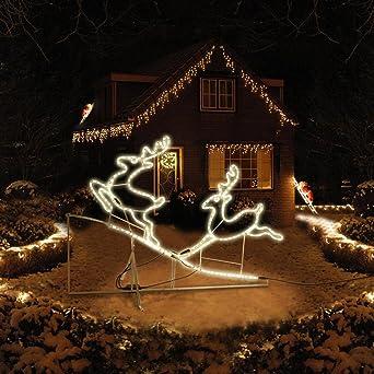 Außergewöhnliche Weihnachtsbeleuchtung.2 Rentiere Außenbeleuchtung Lichterkette Weihnachtsbeleuchtung Rentierpaar Ip44