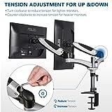EleTab Dual Monitor Mount, Full Motion Monitor Arm