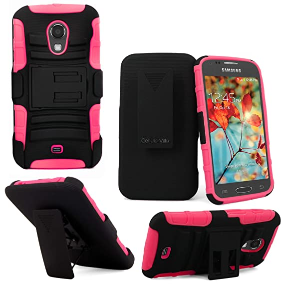 more photos fca68 7f1d1 Samsung Galaxy T-399 Case - Cellularvilla Hard Soft Dual Layer Hybrid Armor  Holster Kickstand Case with Locking Belt Swivel Clip Cover for Samsung ...