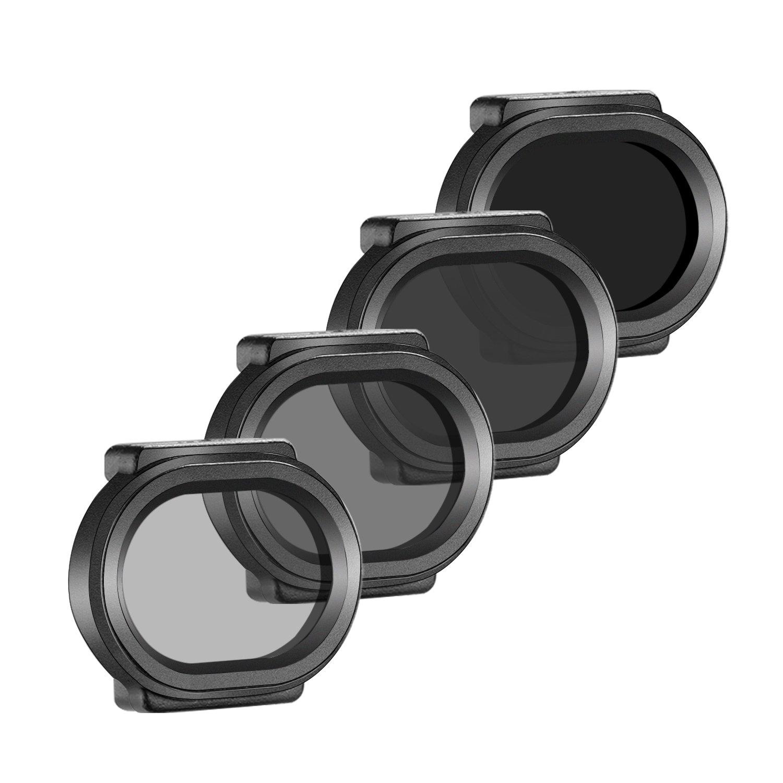 ND4//PL Hecho de Vidrio /Óptico Ligero y Marco Pl/ástico Protector ND8//PL Neewer 4-pieza Set de Filtros para DJI Spark Drone Quadcopter ND16//PL MC-16 ND32//PL Filtros