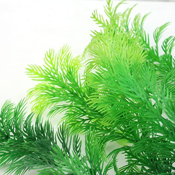 Amazon.com : New Artificial Green Plastic Underwater Plant for Fish Tank Aquarium Decoration : Pet Supplies