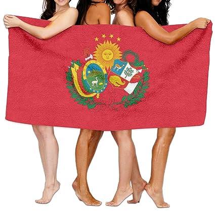 """UKBaby - Toalla de Playa con Bandera del Perú de la Federación boliviana de 80"""""""